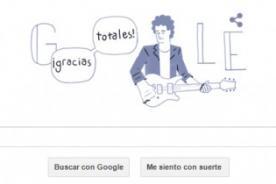 ¡Gracias totales, Google! Nuevo doodle en honor a Gustavo Cerati