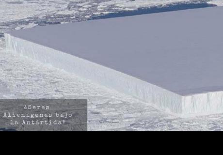 Descubren un misterioso iceberg perfectamente rectangular