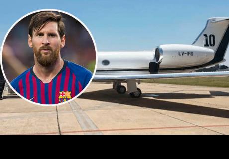 Lionel Messi pagó 15 millones de dólares por este avión y así luce por dentro