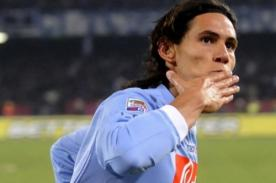 Calcio: Edinson Cavani seguirá en el Napoli