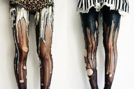 Medias 'derretidas': La última excentricidad de la moda