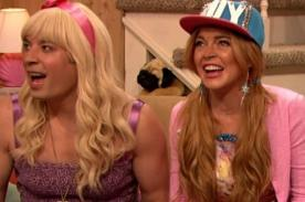 Video: Lindsay Lohan habla de Harry Styles y Miley Cyrus en divertido sketch