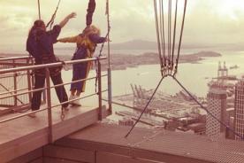 Beyoncé hace un sorprendente salto en Nueva Zelanda - Video