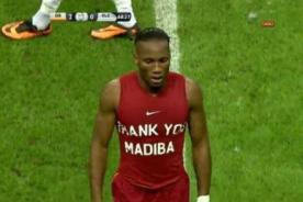 Didier Drogba rinde homenaje a Nelson Mandela