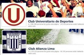 Facebook: Universitario superó a Alianza Lima en cantidad de seguidores