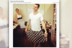 Brasil: Diseñador no soportó intenso calor y fue en falda a trabajar - FOTO