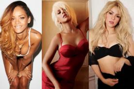 Rihanna, Christina Aguilera y Shakira entre las más sexys del mundo