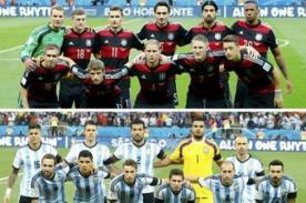 Alemania vs Argentina: Alineaciones confirmadas - Final Mundial 2014