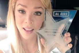 Sheyla Rojas recibió premio a la empresaria del año 2014