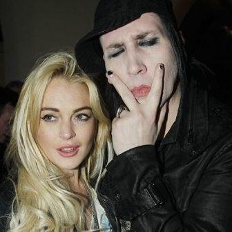 Lindsay Lohan estuvo de fiesta con Marilyn Manson