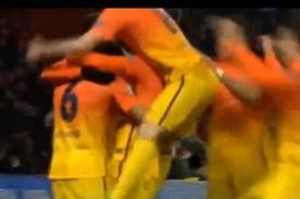 Xavi Hernández dedica gol a niño con leucemia - Vídeo