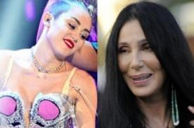 Cher dice estar avergonzada tras criticar a Miley Cyrus