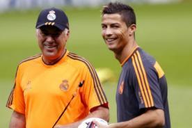 Carlo Ancelotti respalda a Cristiano Ronaldo tras partido contra Málaga