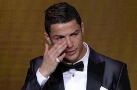 Cristiano Ronaldo llora al recibir el Balón de Oro 2013 - VIDEO