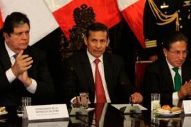 Humala dialogó con Alan García y Alejandro Toledo por fallo de La Haya