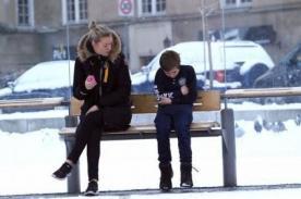 ¿Ayudarías a un niño tiritando de frío en un paradero? - VIDEO