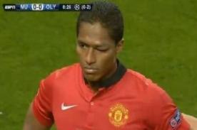 Champions League: Antonio Valencia sufrió terrible golpe - Video