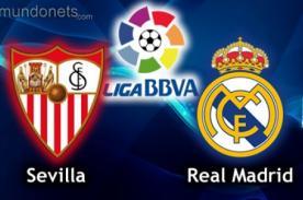 Liga BBVA: Sevilla vs. Real Madrid transmisión en vivo por GolTV - EN VIVO