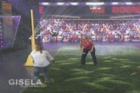 El Gran Show: Natalia Málaga le enseña a jugar voley a Gisela Valcárcel