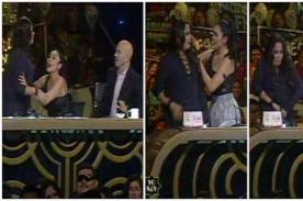Yo Soy: Katia Palma se burla de Carloncho parodiando 'agresión' del locutor - FOTO
