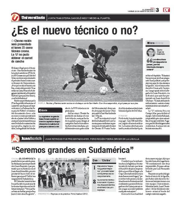 Universitario de Deportes: Giancarlo Carmona quiere que los hinchas llenen el estadio