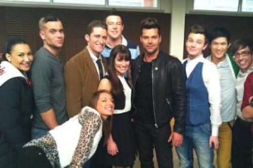 Fotos: Ricky Martin visita el set de Glee