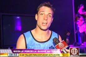 Nicola Porcella seguirá un curso de actuación