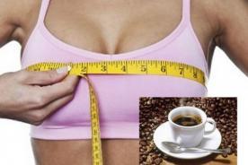 Tomar café reduciría el tamaño de los senos, según estudio