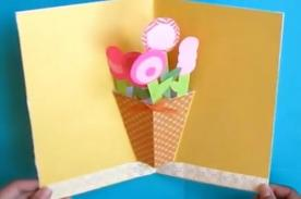 Día de la Madre: Aprende a hacer una linda tarjeta efecto 3D