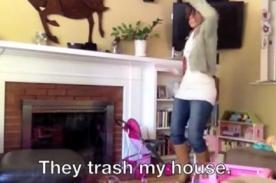 Madre le dice a su familia que se va de casa bailando - VIDEO