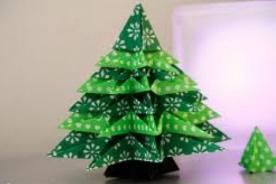 Árbol de Navidad: aprende a crear un pino de Origami