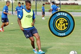 Andy Polo fue recibido por jugador estrella del Inter de Milán