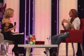 Natalia Málaga lloró en el programa 'Gisela, el gran show'