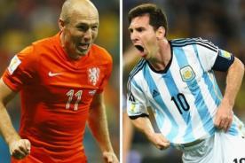 En vivo por Internet - Holanda vs Argentina (0-0) (2-4) - Minuto a minuto - Mundial Brasil 2014