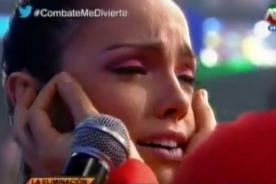 Combate: El 'Papi' provoca llanto desmesurado de Paloma Fiuza  - VIDEO