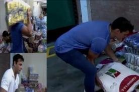 'Guerreritos' ayudan a cargar donaciones pero no las mueven ni media cuadra