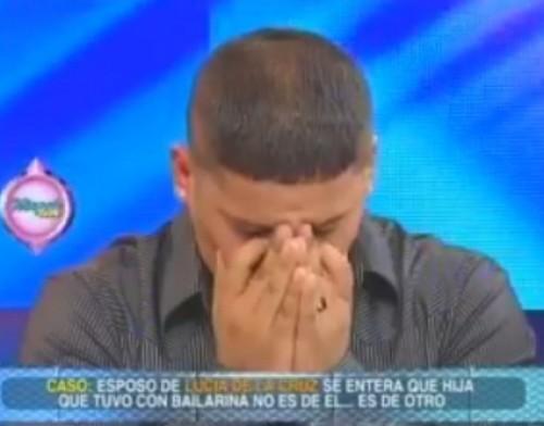 Video: Luisito lloró en TV al enterarse que no es padre de 'chamaquita'