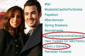 Fans felicitan a Kevin Jonas y su esposa con Tendencia Mundial en Twitter