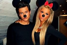 Disfraces de Mickey y Minnie mouse - feliz Halloween en pareja
