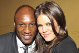 Khloé Kardashian y Lamar Odom juntos en el show de Kanye West