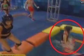Combate: Débora Barrantes se golpea fuertemente en competencia - Video