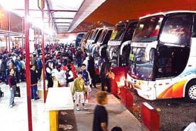 Semana Santa: Buses interprovinciales suben pasajes a más de S/. 100