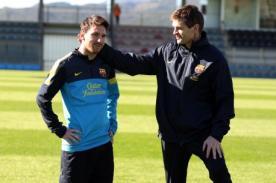 Tito Vilanova convenció a Lionel Messi para que no deje el Barcelona.