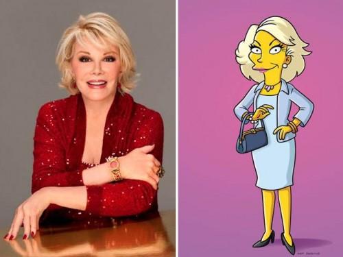 Joan Rivers reaparece en episodio de 'Los Simpsons'
