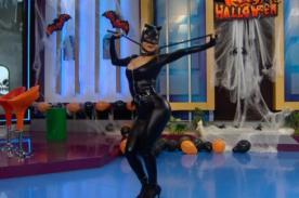 Vanessa Jerí luce toda su sensualidad con un tremendo traje de 'Gatubela' - VIDEO