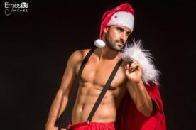 ¡Eduardo Pastrana se convirtió en un infartante y desvestido Papa Noel por Navidad! - FOTOS