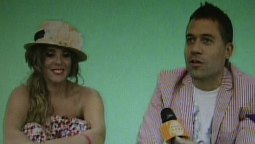Mathías Brivio y Johana San Miguel grabaron spot de su programa