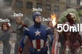 Los Vengadores: Iron Man gana 50 millones y los demás no superan los 5'