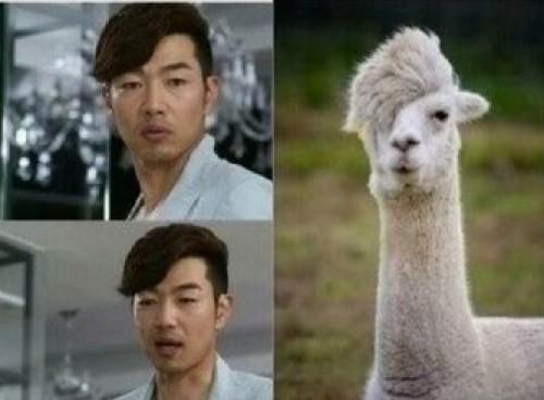Foto: Actor coreano es comparado con una llama