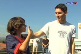 Barcelona: Messi tuvo un emotivo encuentro con el niño Gabriel - Video